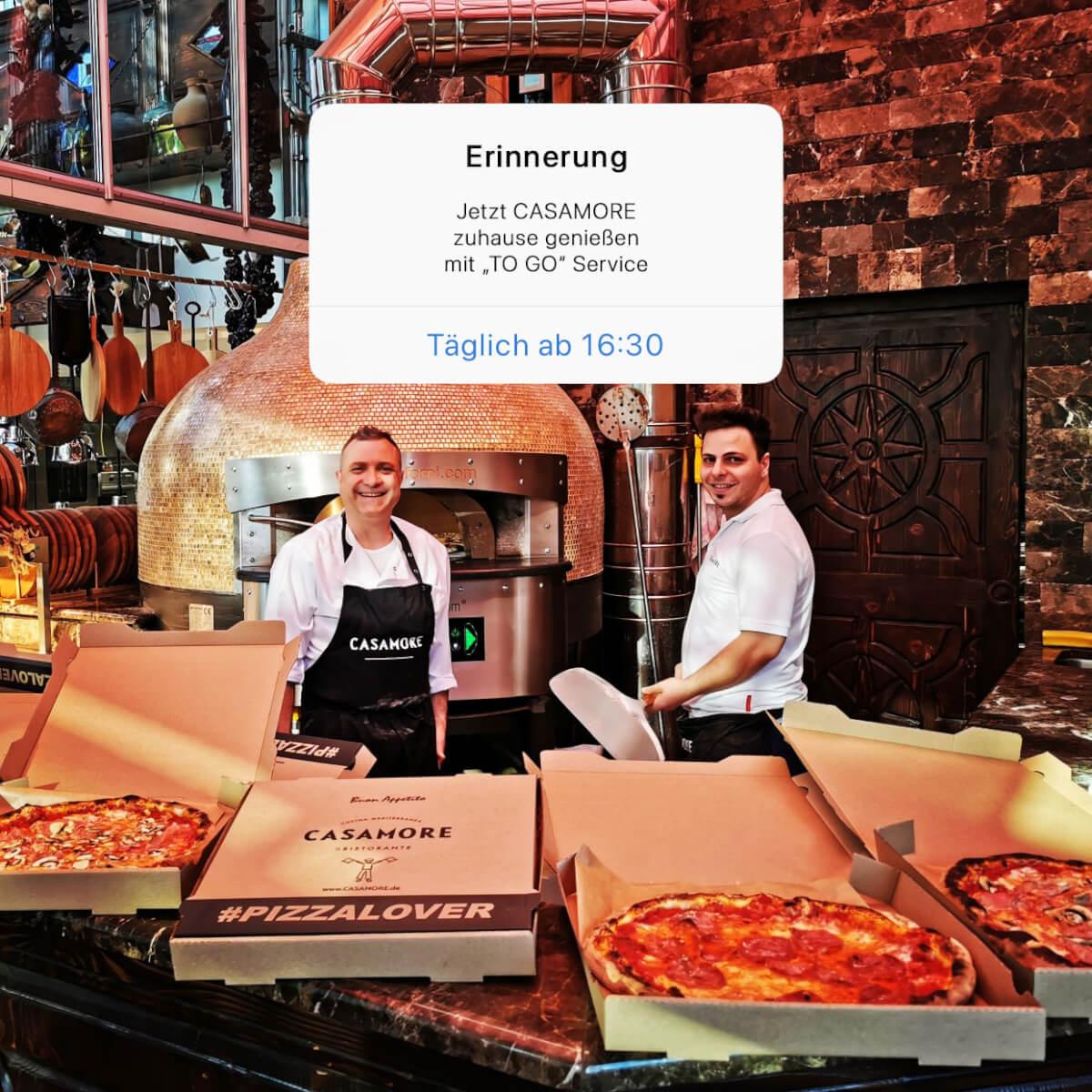 Casamore togo Service Essen zum mitnehmen in Hohberg Hofweier Offenburg